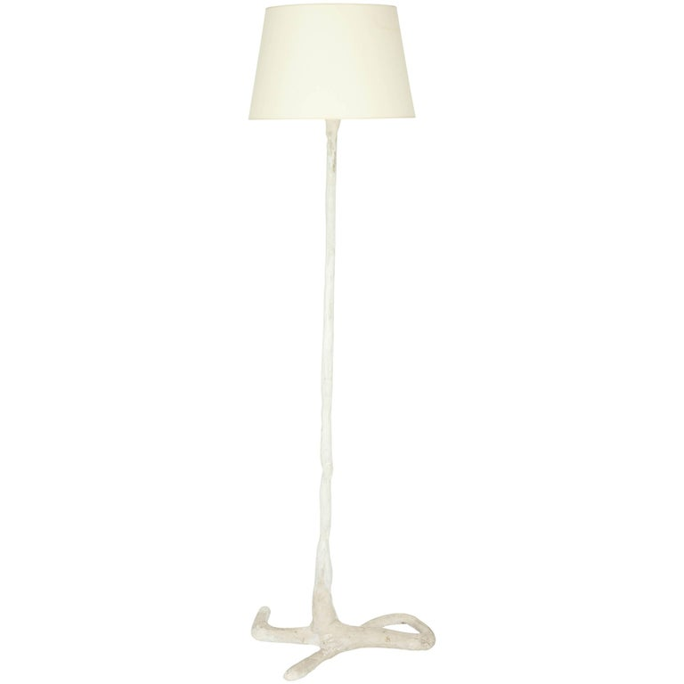 Large French Plaster Floor Lamp For Sale