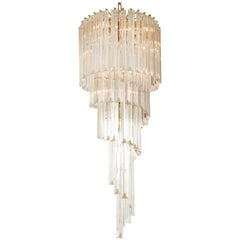 Spiral Chandelier by Camer Offered by Prime Gallery