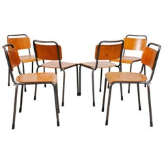 Handsome Stacking Plywood Gispen School Chairs