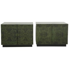 Milo Baughman Malachite Nightstands