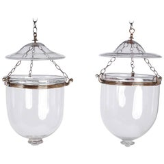 Pair of 19th Century Bell Jar Lanterns or Lights