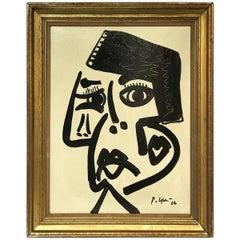 Peter Keil Expressionist Oil Portrait 'To My Friend Pablo Picasso'