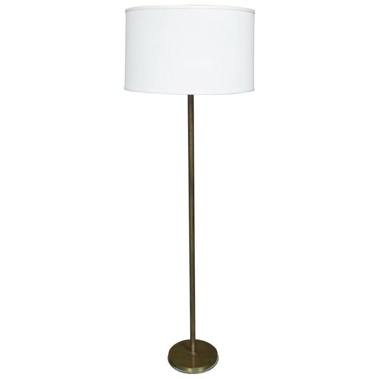 French Mid-Century Modern Brass Floor Lamp