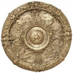 Highly Detailed Antique Silvered Bronze Platter from France, circa 1900