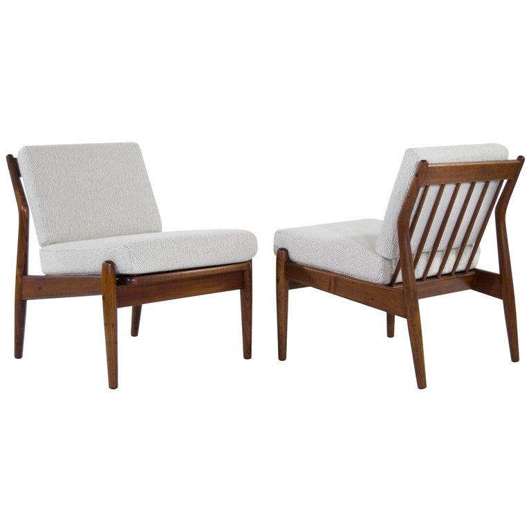 Scandinavian Modern Teak Slipper Chairs