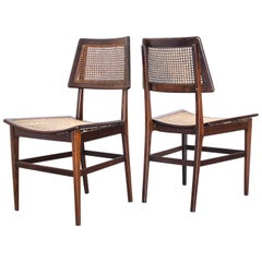 "1960s Pair of ""Curved Seat"" Chairs in Rosewood by Joaquim Tenreiro, Brazil"