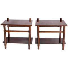 Michel Arnoult Side Tables in Jacaranda Wood