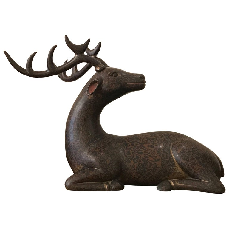 Japanese Lacquer Deer For Sale