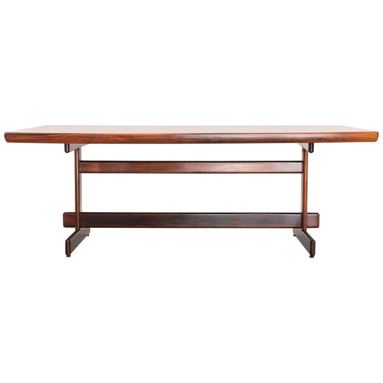 Sergio Rodrigues Dining Table in Brazilian Rosewood, Brazil, 1960s