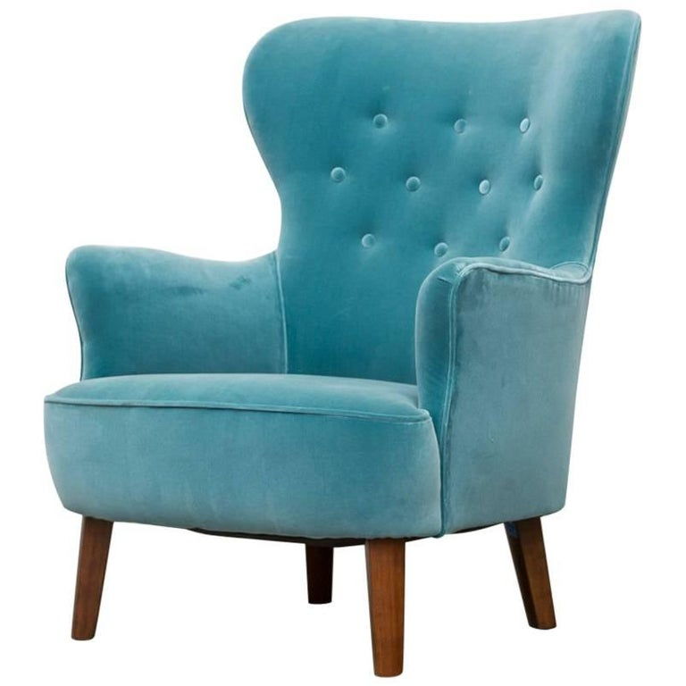 Turquoise Theo Ruth Lounge Chair for Artifort