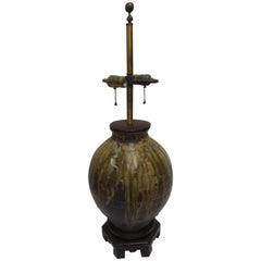 Norman Perry Inc. Art Pottery Double Socket Lamp