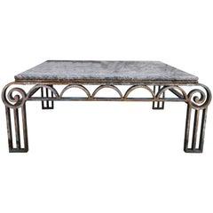 Art Deco Wrought Iron Coffee Table