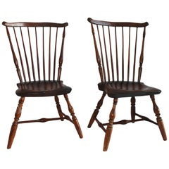18th Century Windsor Chairs, Matching Pair