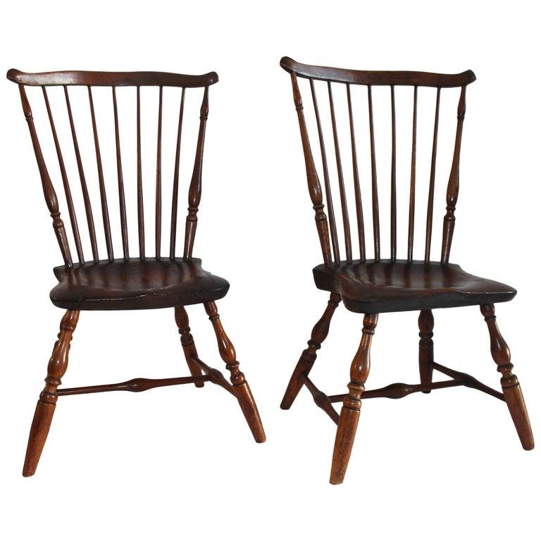18th Century Windsor Chairs, Matching Pair