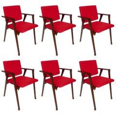Franco Albini Luisa Italian Dining Chairs, Set of Six