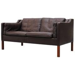 Borge Mogensen for Frederica 2212 Leather Loveseat