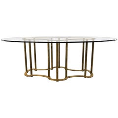 Fine Bamboo Form Chinese Inspired Stamped Maison Jansen Dining Centre Table