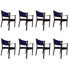 Ole Wanscher PJ412 Rosewood Danish Modern Armchairs