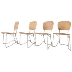 First Edition Aluflex Chairs by Armin Wirth Switzerland, 1950s