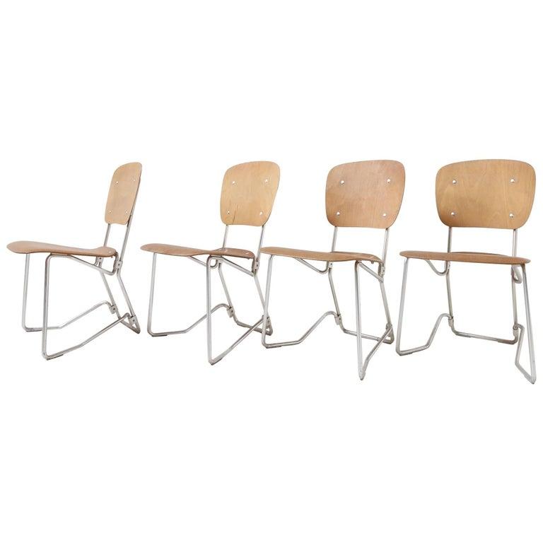 First Edition Aluflex Chairs by Armin Wirth Switzerland, 1950s