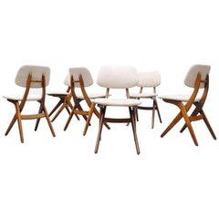 Set of Six Hovman Olsen Style Dining Chairs for Webe