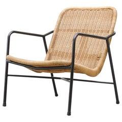 Dirk Van Sliedregt Rattan Lounge Chair
