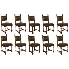 Set of Ten 19th Century French Dining Chairs