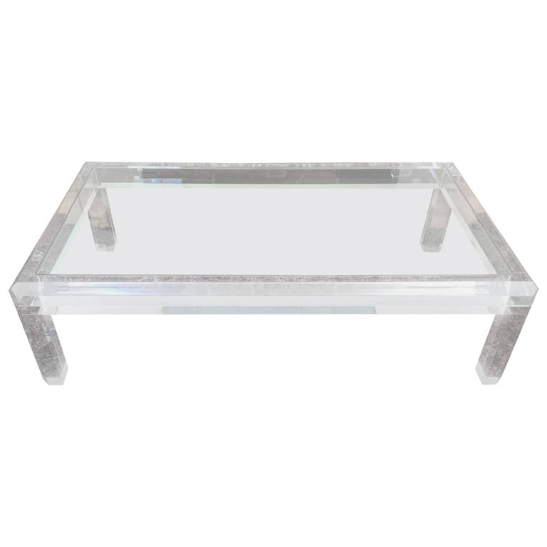 1970s Lucite Coffee Table
