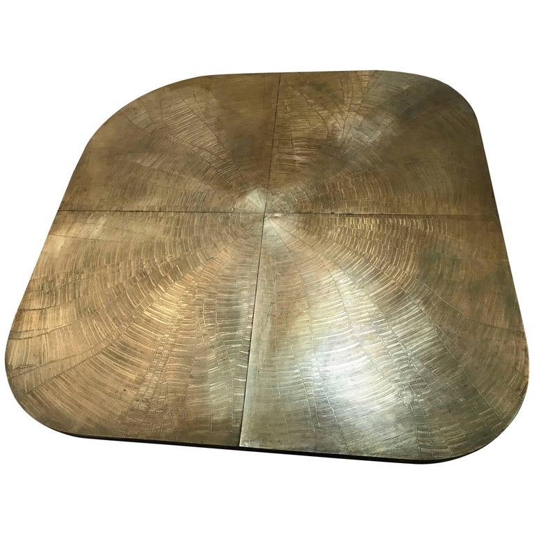 Etched Bronze Coffee Table by George Mathias
