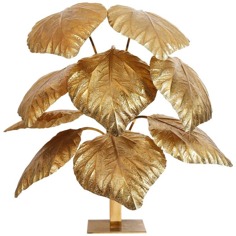 Carlo Giorgi for Bottega Gadda 9-Leaf Rhubarb Floor Lamp, Italy, 1980-90s