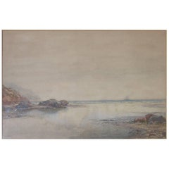 New Zealand Seascape Watercolor