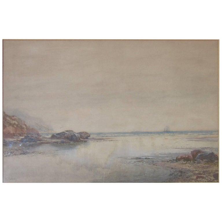 New Zealand Seascape Watercolor
