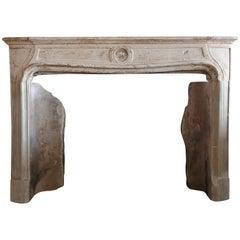 Antique Fireplace of Limestone, 754