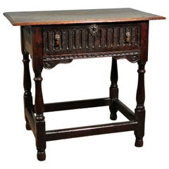 Early 17th Century Oak Lowboy with Provenance from Groombridge Place in Kent