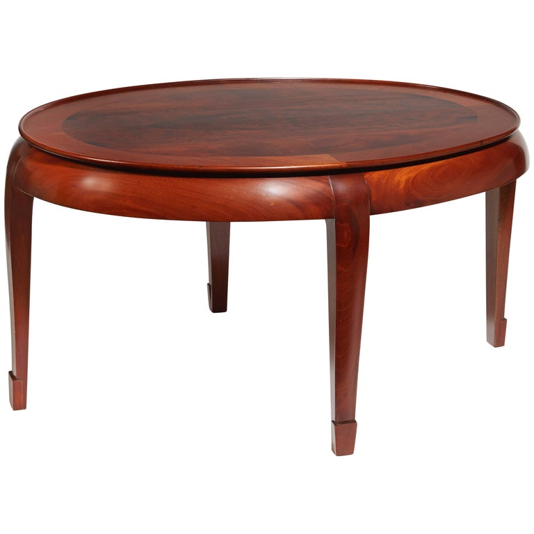Oval Coffee Table by Süe & Mare, circa 1930