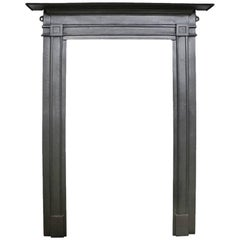 Very Simple Late 19th Century Flat Cast Iron Fireplace Surround