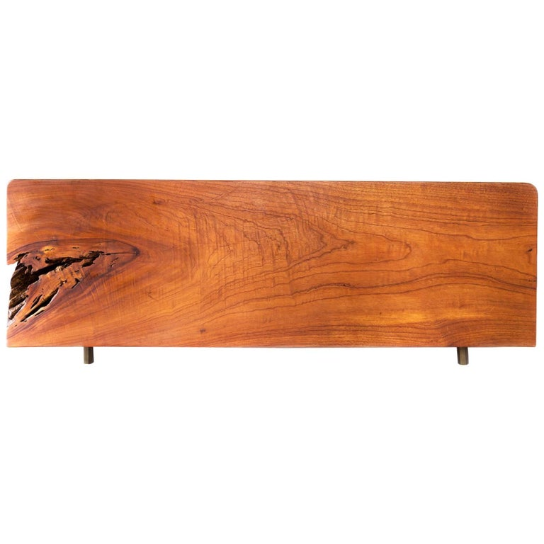 Herbeh Wood Bold Rectangular Cedar Wood Coffee Table or Bench