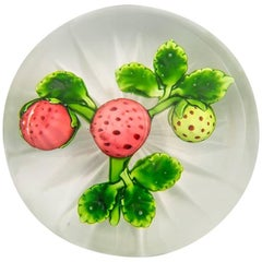 Baccarat Strawberry Paperweight