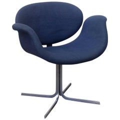 1965, Pierre Paulin for Artifort, Early Original Base and Blue Fabric