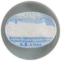 Martoret Sulphite Souvenir Paperweight of the Great Exhibition