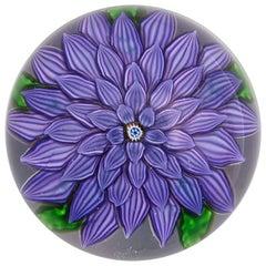 Saint Louis Purple Dahlia Paperweight