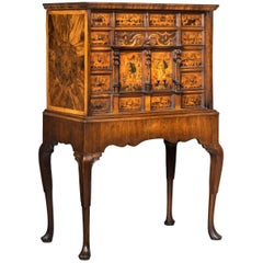 Early 18th Century Continental Walnut Cabinet on Stand