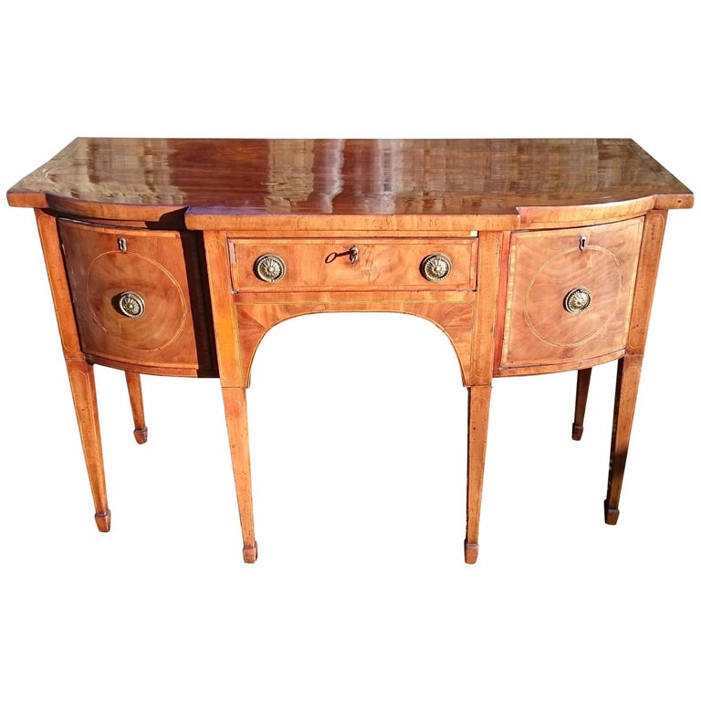 18th Century Mahogany George III Period Antique Sideboard Good Color