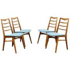Set of Four Reupholstered 1960s Dining Chairs