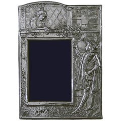 """Edwardian """"Romeo and Juliette"""" Sterling Silver Photograph Frame"""
