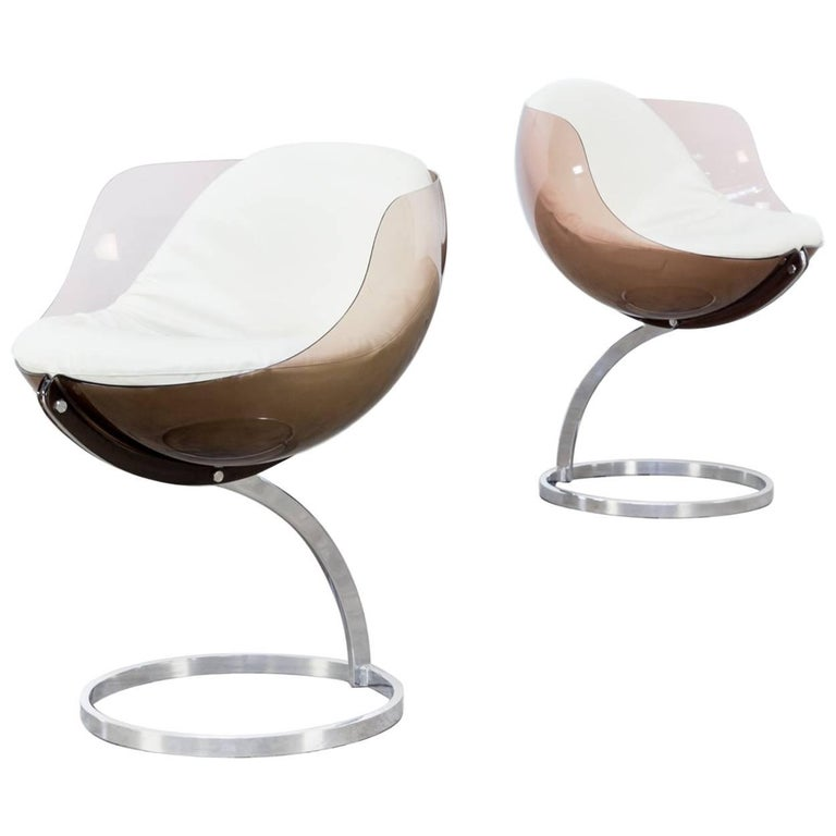 1970s Boris Tabacoff 'Sphere' Chairs for Mobillier Modulaire Modern Set of Two