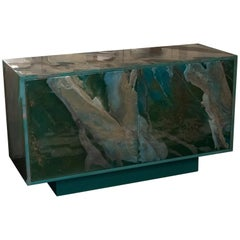 Contemporary Multilayered Green Resin Sideboard