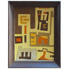 1950s Abstract Painting RKM
