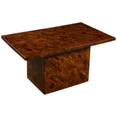 20th Century Burr Yew Marquetry Coffee Table