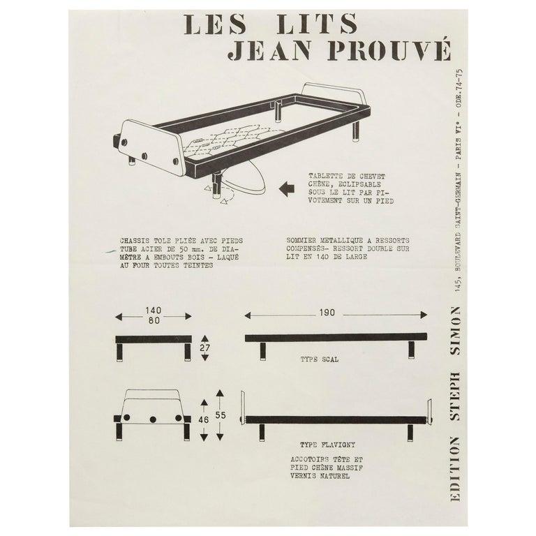 """""""Les Lits"""" Jean Prouvé by Steph Simon Editions Booklet Print For Sale"""